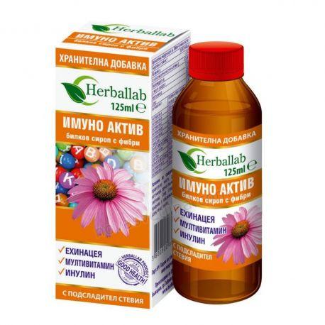 ИМУНО АКТИВ билков сироп с фибри 125мл Herballab