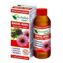 ИМУНО МАКС билков сироп с фибри 125мл Herballab