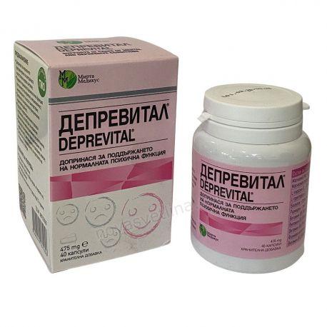 ДЕПРЕВИТАЛ 40 капсули за нормална психична функция Мирта Медикус