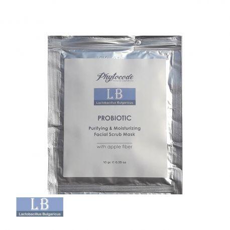 Почистваща скраб-маска за лице с пробиотици LB Lactobacillus Bulgaricus - 10гр.