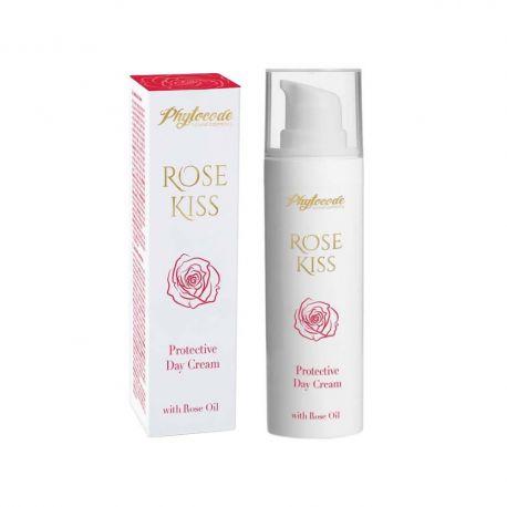 Защитен дневен крем с българско розово масло РОУЗ КИС ФИТОКОД - 30мл.