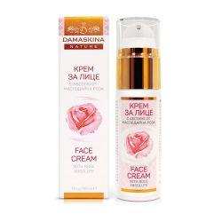 Хидратиращ и стягащ крем за лице с хиалуронова киселина и розово абсолю ДАМАСКИНА - 30мл