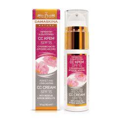 Матиращ CC крем за лице за всеки тип кожа с розово абсолю SPF15 ДАМАСКИНА - 30мл
